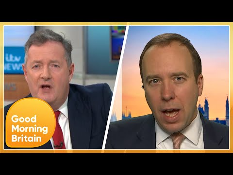 Matt Hancock Clashes With Piers Over Rising COVID Cases & NHS Understaffing | Good Morning Britain