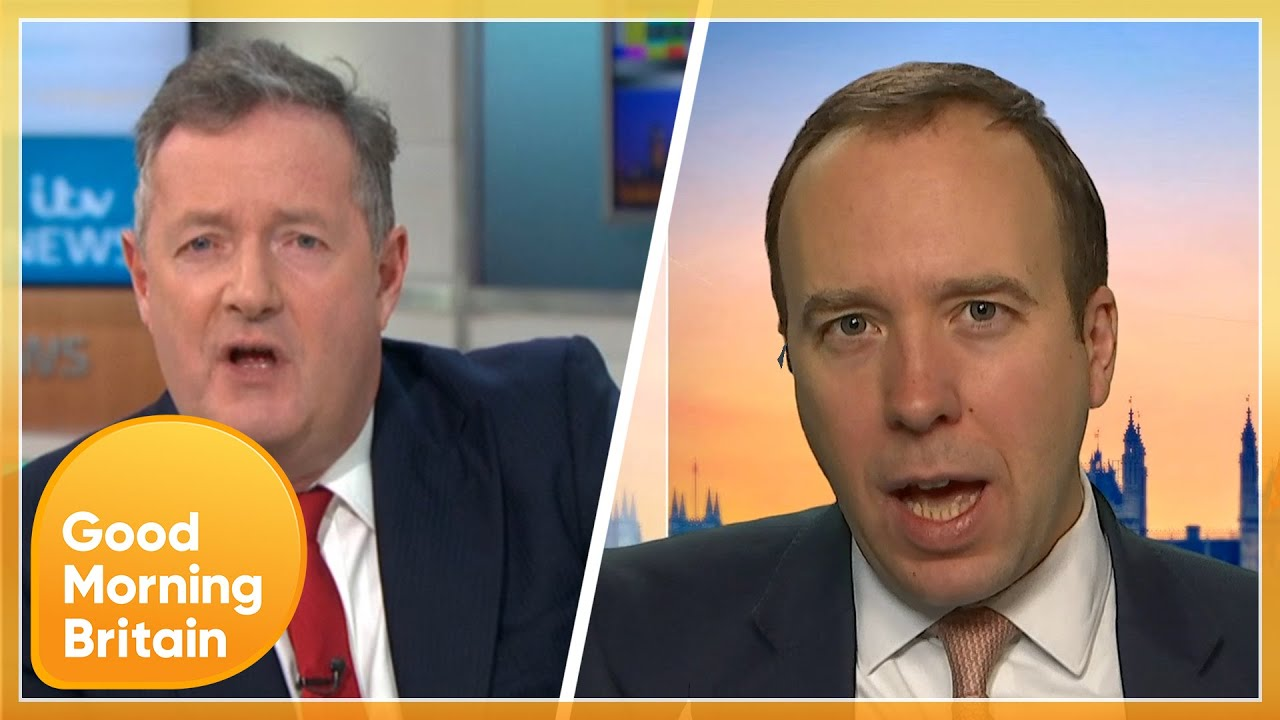 Matt Hancock Clashes With Piers Over Rising COVID Cases & NHS Understaffing!