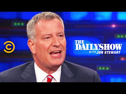 The Daily Show - Exclusive - Bill de Blasio Extended Interview Pt. 2