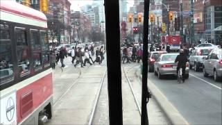 Toronto TTC Streetcars along Spadina Avenue, 15.03.12