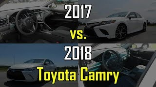 2018 vs. 2017 Toyota Camry SE: Side-by-Side Comparison