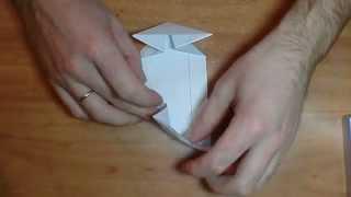 Как сделать машинку из бумаги своими руками(Как из обычного тетрадного листа за 3 минуты сделать машинку из бумаги. Мы такие в школе делали., 2014-03-29T21:04:17.000Z)