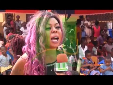 Afia Schwarzenegger Celebrates Birthday With Eye Of The Lord  Day Care Centre