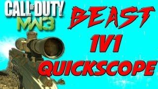 MW3 BEAST 1v1 Quick Scope