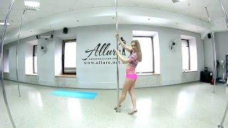 Pole-dance крутка веер.