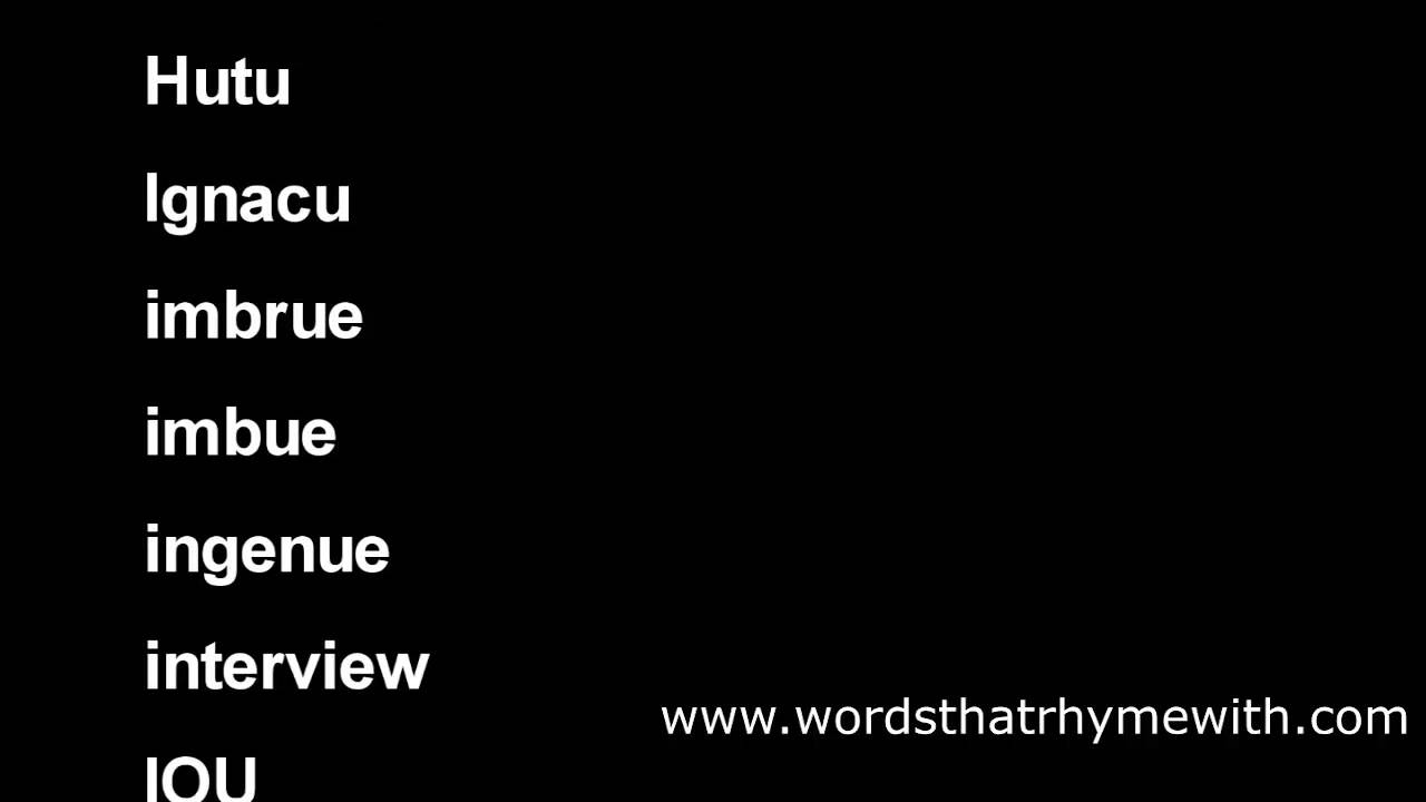 Worksheet Word Rhyming With You words that rhyme with you what rhymes youtube you