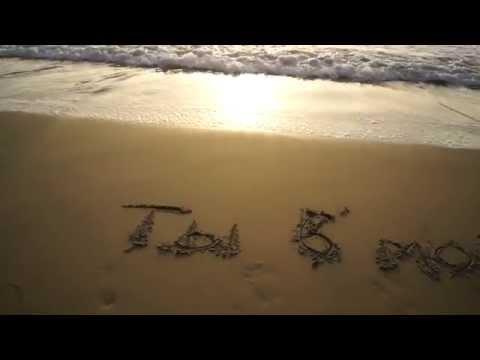 Надпись на песке. Оригинальное поздравление с днём рождения