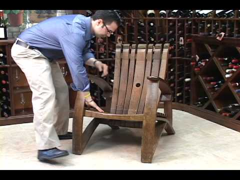 barrel stave adirondack chair plans blue kitchen covers wine youtube