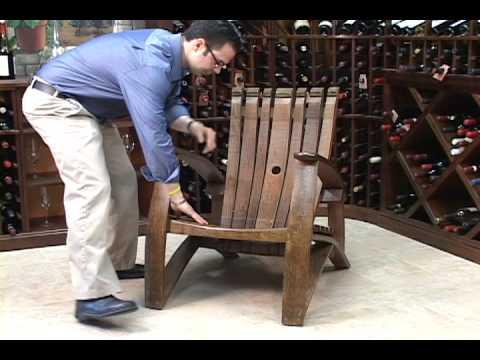 Wine Barrel Stave Adirondack Chair  YouTube