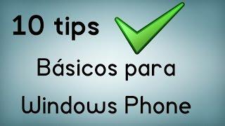 10 tips básicos para Windows Phone
