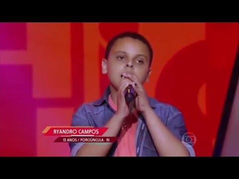 Ryandro Campos canta 'Fim de tarde' no The Voice Kids - Audições|1ª Temporada