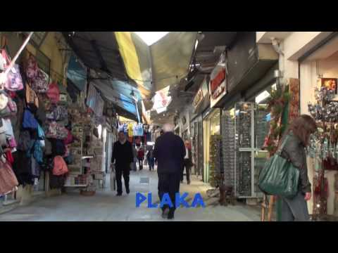Streets of Plaka and bus to airport (Αθήνα/Athens)