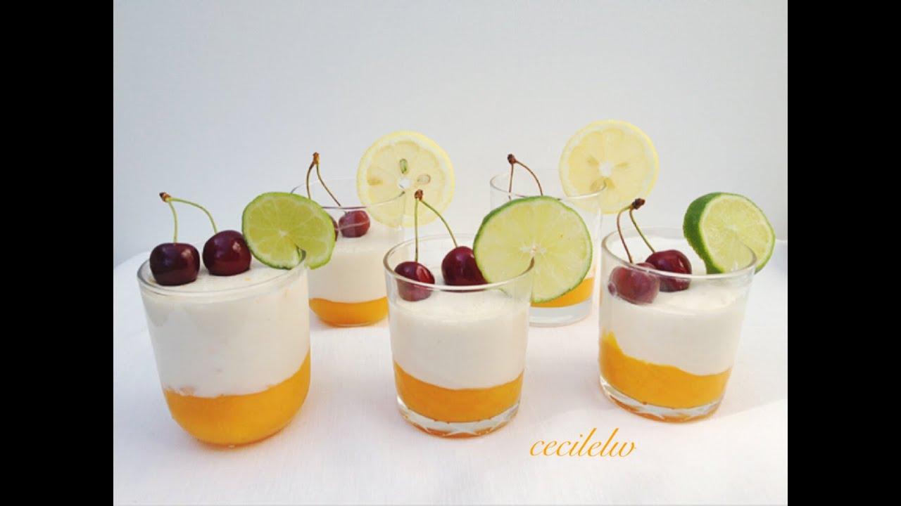 Recette Panna Cotta Mangue Citron Vert Cecile Lw Youtube