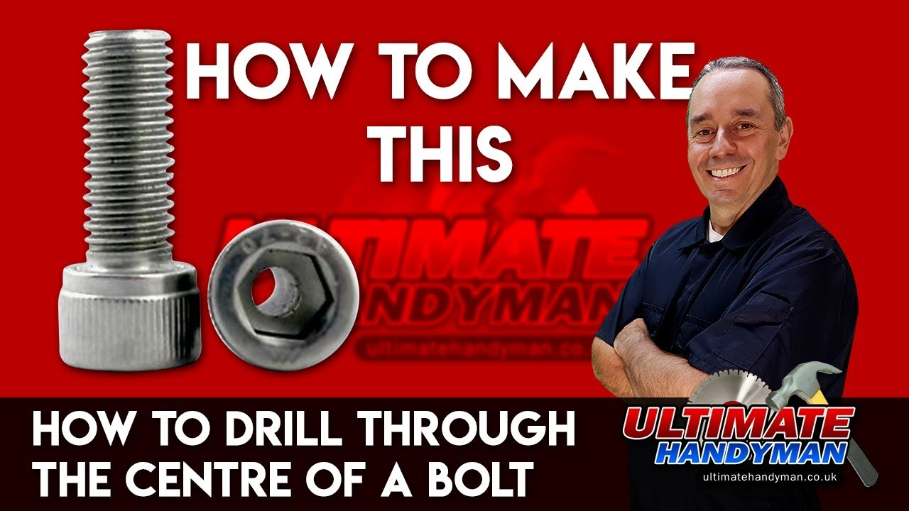 How To Drill Through The Centre Of A Bolt Drill Bolt Guide Youtube