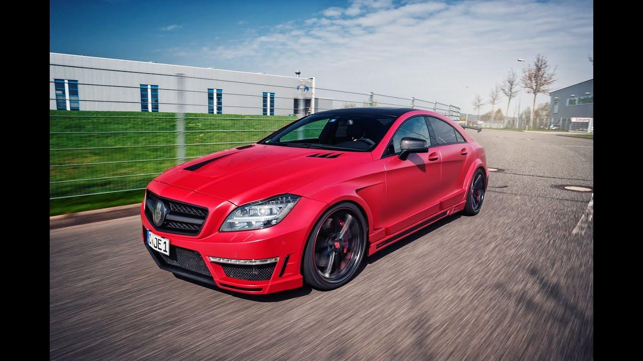 Mercedes-Benz CLS63 AMG custom exhaust - YouTube