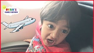 Family Fun Vacation! Kid React Airplane Trip to NYC Hotel Tour! Ryan's Family Review Vlog