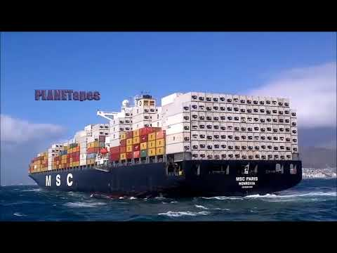 Extreme Container Ships Cargo Ships in Accident  Sea Storms