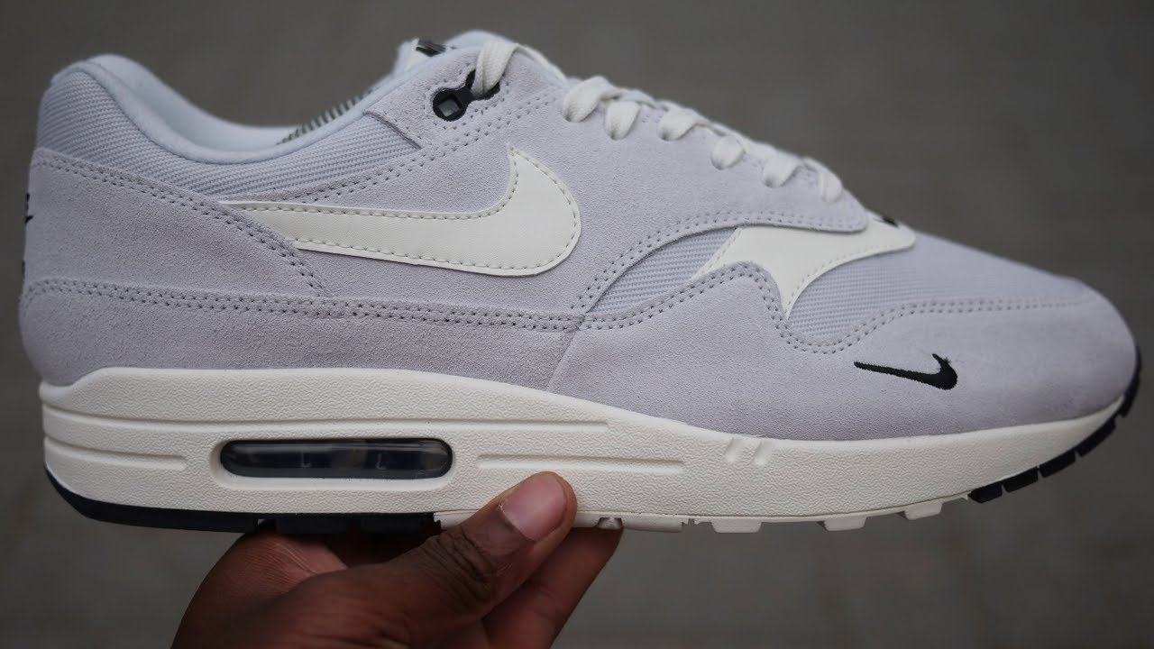 Air Max 1 Premium 'Mini Swoosh' Quick Look & On Feet (Pure PlatinumSail)