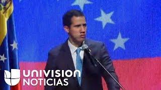 Venezuela: Juan Guaidó asiste a un encuentro con trabajadores en Caracas
