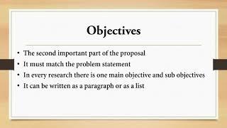 How to Write a Proposal   كيف تكتب خطة بحث