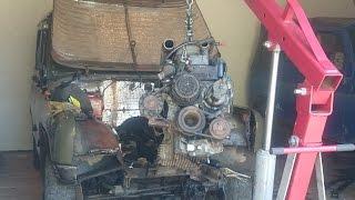 УазТех: Установка om616 с мкпп 5ступ на УАЗ 469, ЧАСТЬ 1