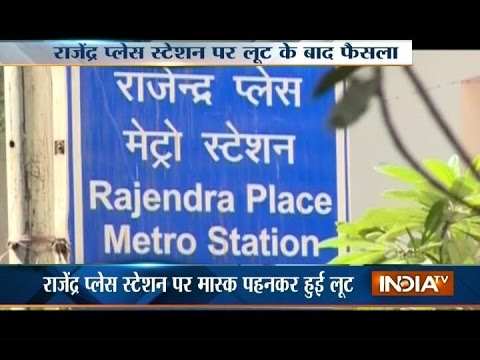 Tight Security after Metro Employee Stabbed at Rajendra Palace Metro Station