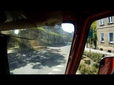Kamera GoPro przyczepiona do hełmu strażaka podczas pożaru nieużytków OSP Chociwel