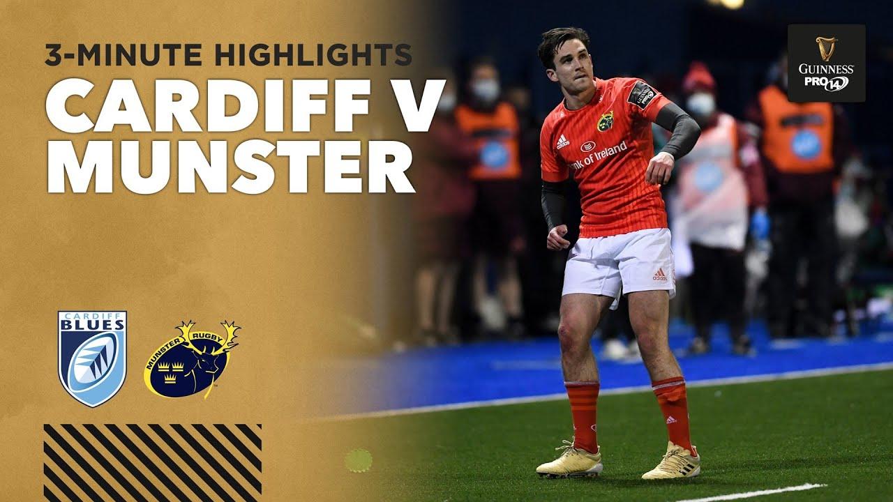 3 Minute Highlights: Cardiff v Munster | Round 13 | Guinness PRO14 2020/21
