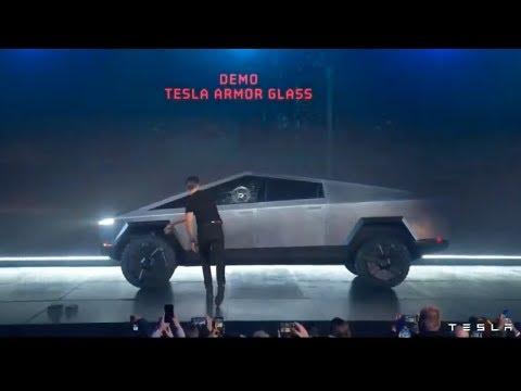 Telsa Cybertruck - Elon Musk accidentally breaks windows mad