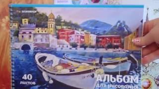 Покупки для рисования: Самоучители/Скетчбуки/Альбомы/Блокноты