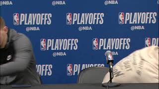 LIVE Round 1 Post Game Press Conference | SAS vs. DEN