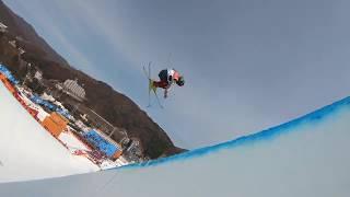2018 Winter Olympics ||Gold Medalist David Wise|| Followcam through the Olympic Halfpipe