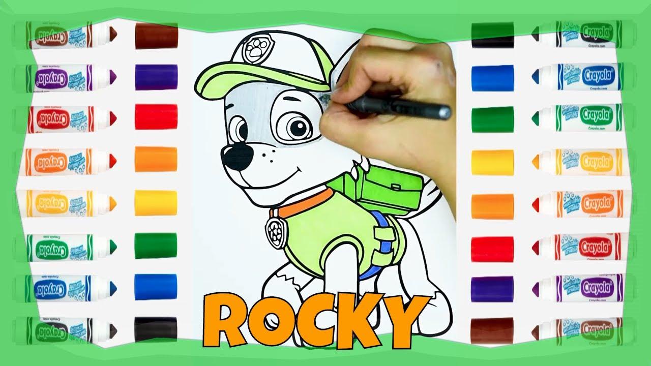coloreando a paw patrol rocky  coloring paw patrol rocky