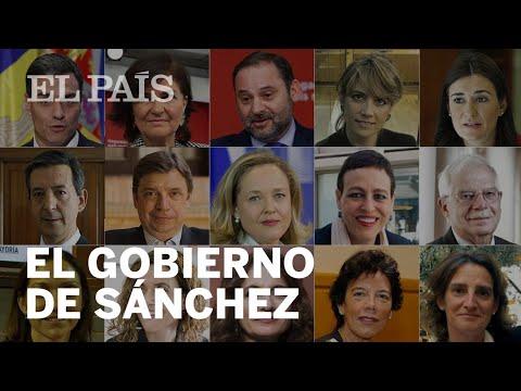 TODOS LOS NOMBRES DEL GOBIERNO DE PEDRO SÁNCHEZ