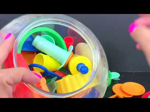 Play-Doh CREATE 'N STORE Learning FOR BABIES & TODDLERS | itsplaytime612 Colors