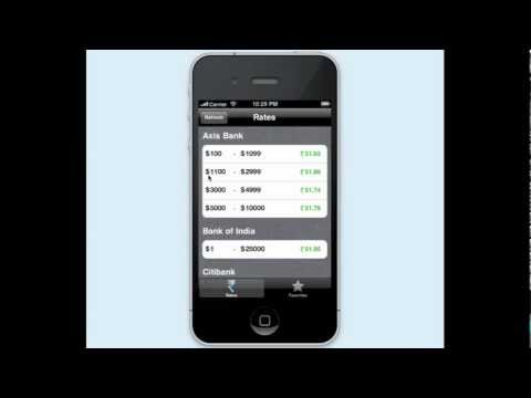 Best Dollar to Rupee Exchange Rates iPhone App - Rupya