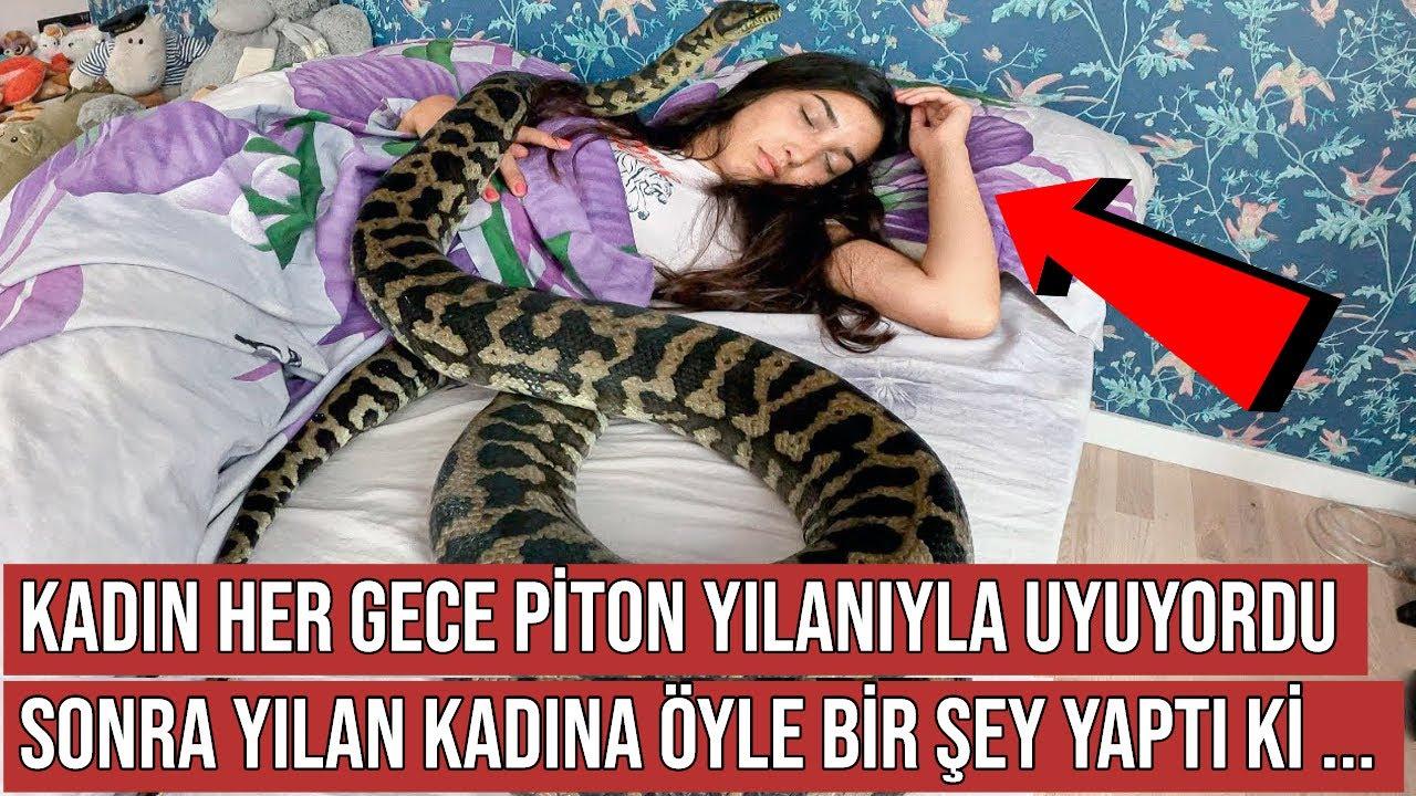 Kadın Her Gece Piton Yılanı İle Birlikte Uyuyordu, Sonra Yılan Öyle Bir Şey Yaptı ki