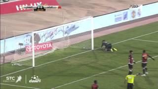 هدف الهلال الاول ضد الرائد في الجولة 16 من دوري عبداللطيف جميل