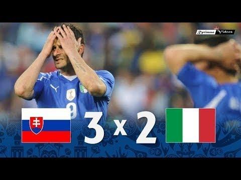 🔥 Словакия - Италия 3-2 - Обзор Матча Чемпионата Мира 24/06/2010 HD 🔥