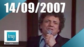 20h France 2 du 14 Septembre 2007 - Jacques Martin est mort   Archive INA