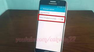 Android Lollipop : How to enable or disable Show TTS Speech on screen in Samsung Galaxy S6