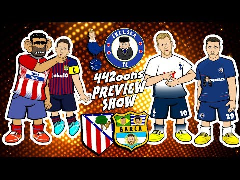 ⚽️ATLETI vs BARCA! TOTTENHAM vs CHELSEA - Preview!⚽️ (1-1 3-1)