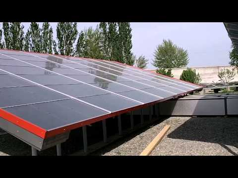 Solar dryer panels ready installed at Silk Road Organic Food