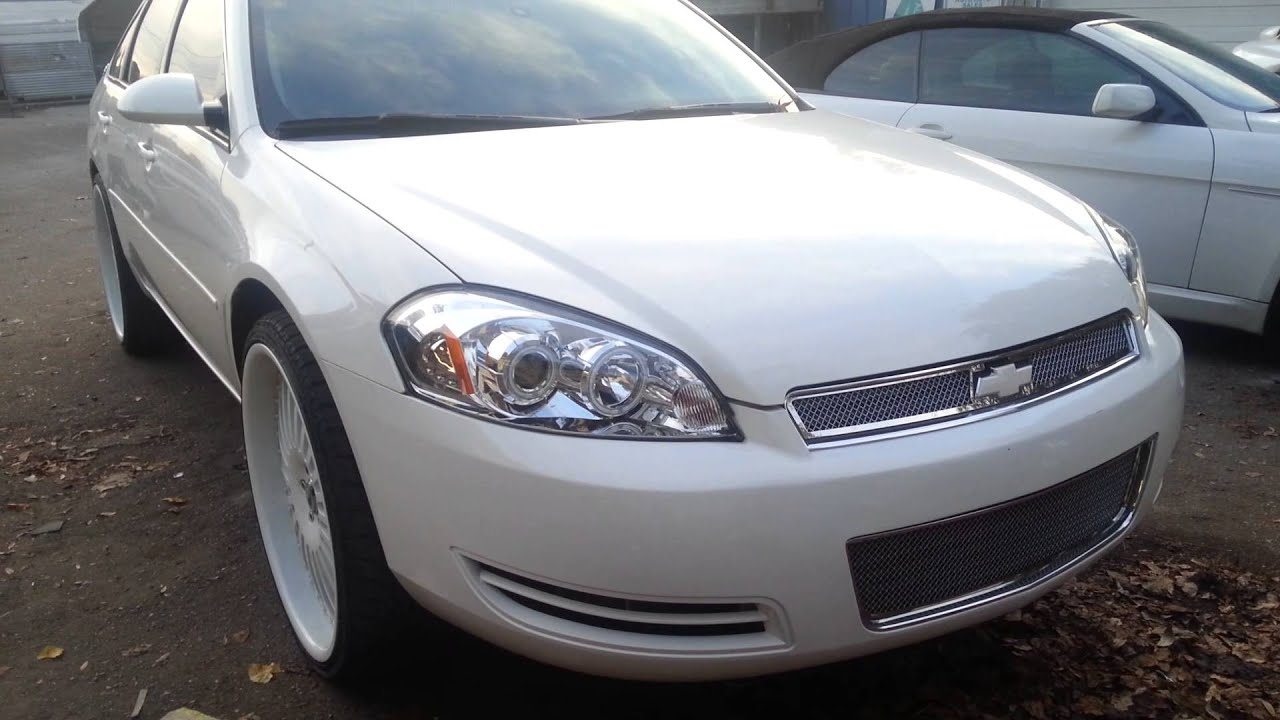 All White Impala On 24 Quot Asantis Youtube
