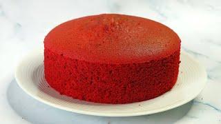 Basic Red Velvet Sponge Cake Recipe  How To Make Red Velvet Cake Without Butter  Cake Fusion