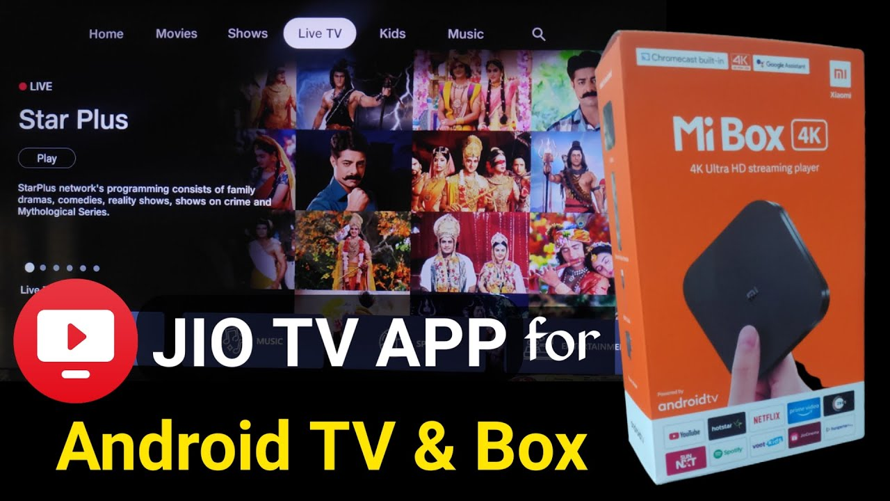 Latest Jio TV APK for Android TV
