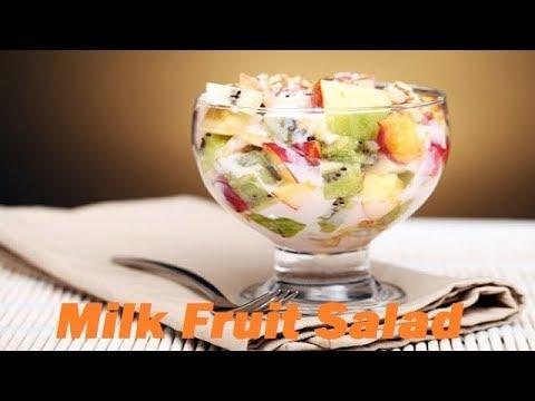 Milk Fruit Salad I Indian Fruit Salad without Custard I ...