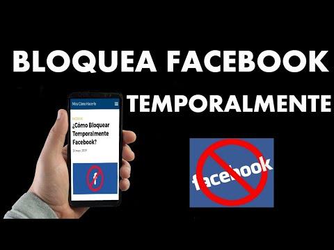 ¿Cómo Bloquear Temporalmente Facebook?