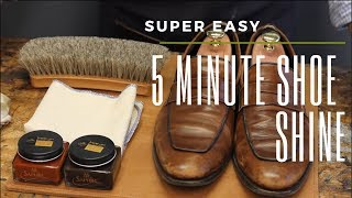 Super Easy 5 MINUTE Shoe Shine
