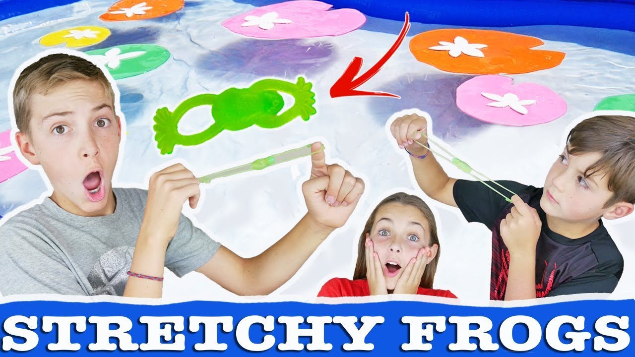 Download Stretchy Frog Launch Toy Challenge | Fun Lilly Pad Kids Game And Craft